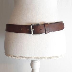 J Crew Genuine Leather Belt Brown Size 36